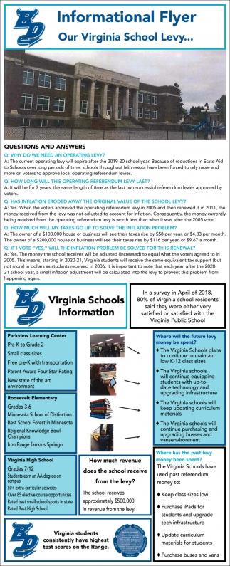 informational flyer our virginia school levy virginia public