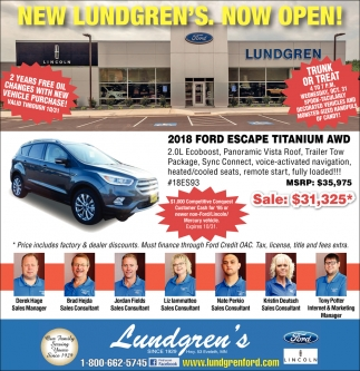 New Lundgren's. Now Open!