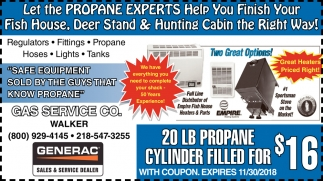 Let The Propane Experts Help You Finish Your Fish House