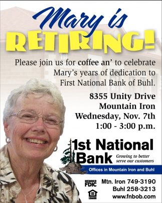Mary Is Retiring!