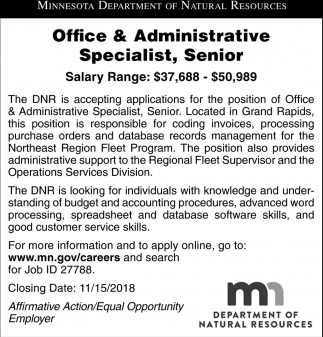 Office & Administrative Specialist