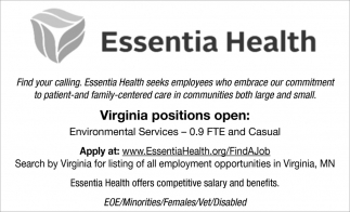 Virginia Positions Open