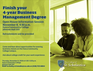 Finish Your 4-Year Business Management Degree