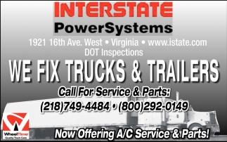 We Fix Trucks & Trailers