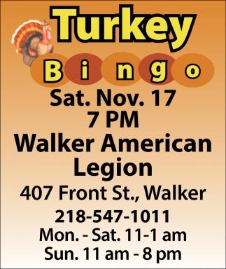 Turkey Bingo