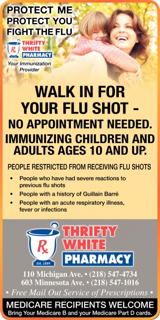 Walk In For Your Flu Shot