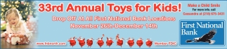 33rd Annual Toys For Kids!
