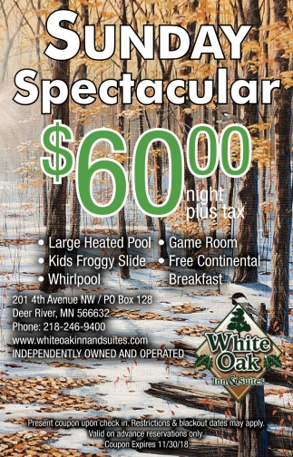 Sunday Spectacular $60.00