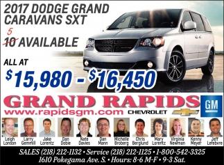 2017 Dodge Grand Caravans STX