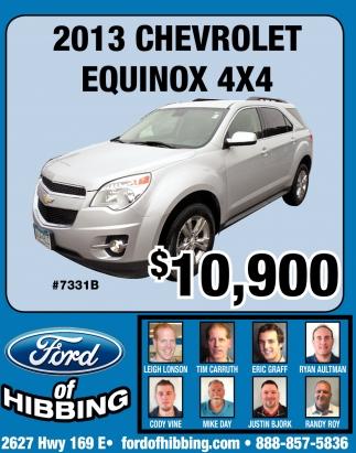 2013 Chevrolet Equinox 4X4