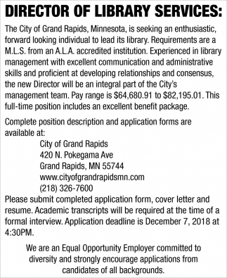 Director Of Library Services