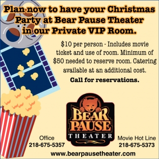 Plan Now To Have Your Christmas Party , Bear Pause Theater ...