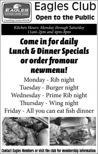 Lunch & Dinner Specials