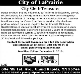 City Clerk-Treasurer