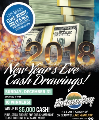 New Year's Eve Cash Drawings!