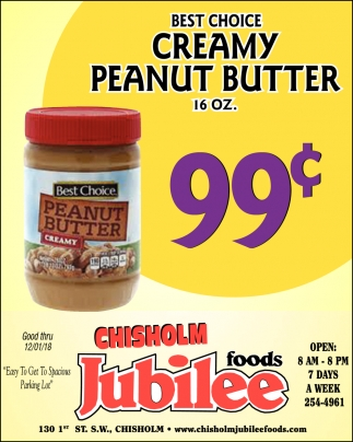 Best Choice Creamy Peanut Butter