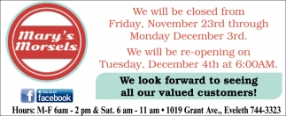 New Winter Hours