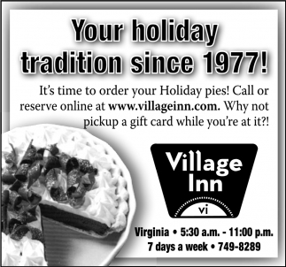 Your Holiday Tradition Since 1977!
