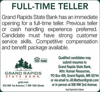 Full-Time Teller