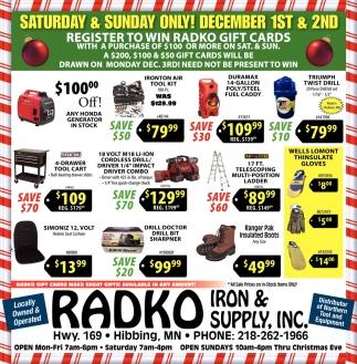 Register To Win Radko Gift Cards