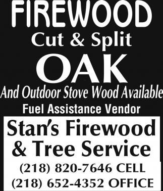 Firewood Cut & Split Oak