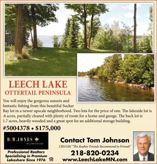 Leech Lake Ottertail Peninsula