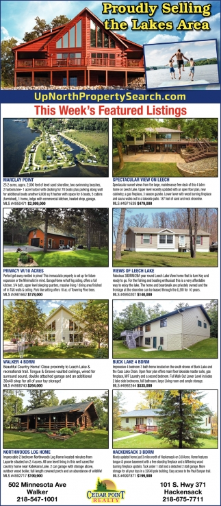 Proudly Selling The Lake Area, Coldwell Banker Cedar Point Realty, Walker,  MN