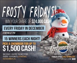 Frosty Fridays!