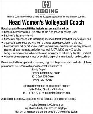 Head Women's Volleyball Coach