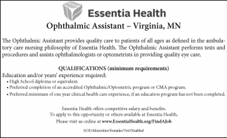 Opthalmic Assistant