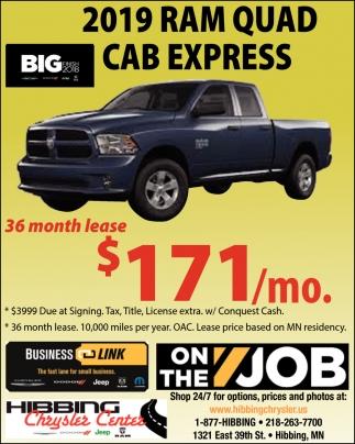 2019 Ram Quad Cab Express