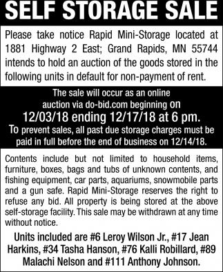 Self Storage Sale