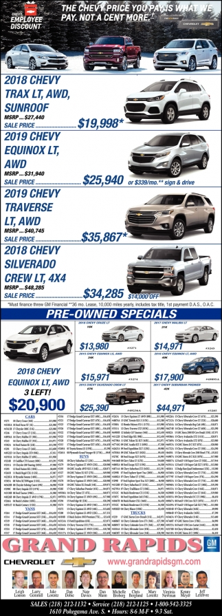 The Chevy Price You Pay Is What We Pay
