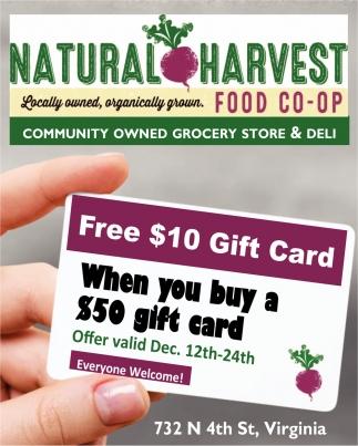 Free $10 Gift Card