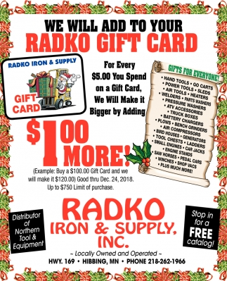 Radko Gift Card