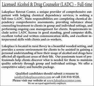 Licensed Alcohol & Drug Counselor
