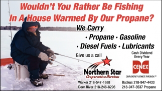 Wouldn't You Rather Be Fishing In A House Warmed By Our Propane?