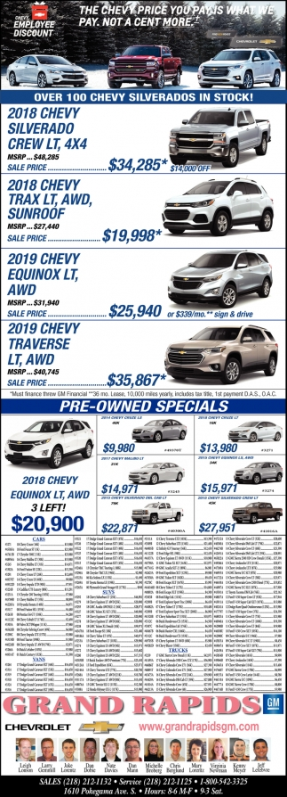 Over 100 Chevy Silverados In Stock!