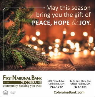 May This Season Bring You The Gift Of Peace, Hope And Joy, First ...