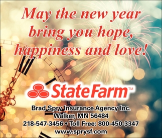 May The New Year Bring You Hope, Happiness And Love!