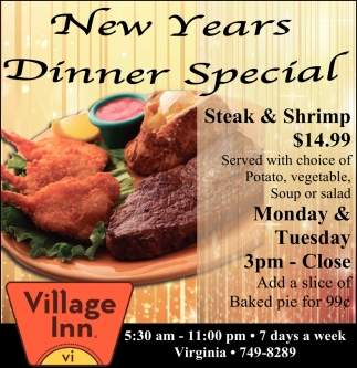New Years Dinner Special