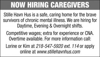 Now Hiring Caregivers
