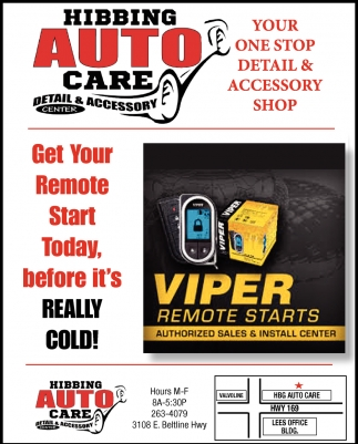 Get Your Remote Start Today, Before It's Really Cold!