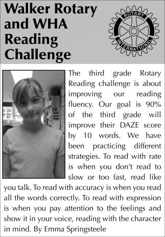 The Third Grade Rotary Reading Challenge