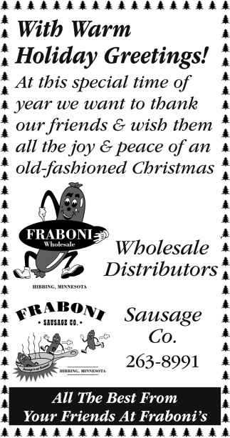 Warm holiday greetings fraboni wholesale with warm holiday greetings fraboni wholesale kristyandbryce Gallery