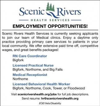 Employment Opportunities!