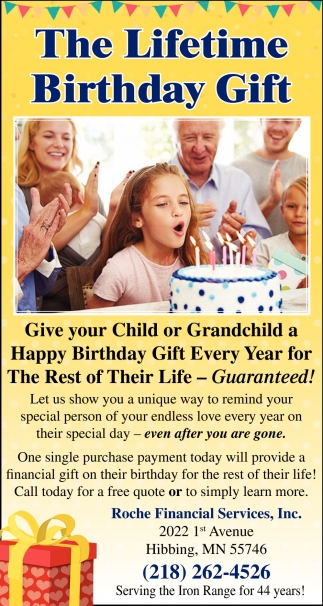 The Lifetime Birthday Gift