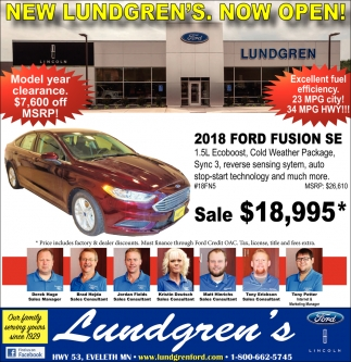 New Lundgrens Now Open