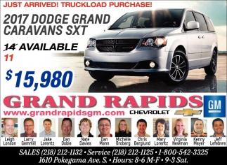 2017 Dodge Grand Caravans SXT