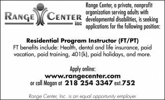 Residential Program Supervisor